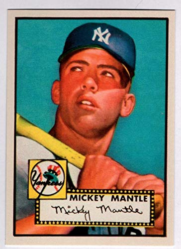 - Mickey Mantle 1952 Topps Baseball Rookie RC Reprint Card New York Yankees - Baseball Card