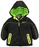 Rugged Bear Little Boys' Toddler Systems Coat with Quilted Jacket, Black, 2T