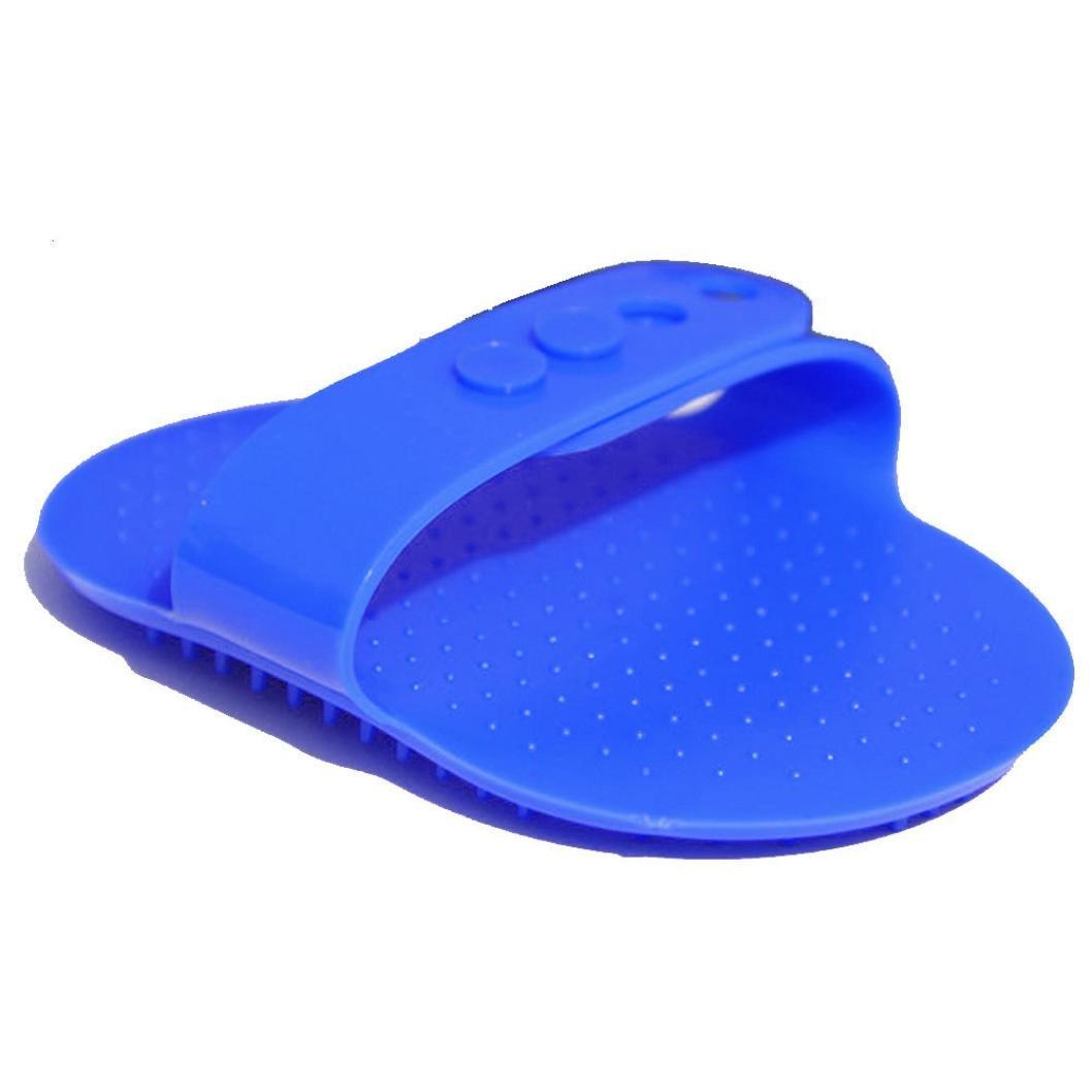 Sensail Brosse de Nettoyage, Animal de Compagnie Brosse Toilettage Massage Pour Chat Chien (bleu)