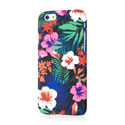 Empire Signature Series iPhone 6/6S Slim Fit Phone Case - Raised Accented Edges, Diamond Knit Fabric - Hawaiian Blue Tropics