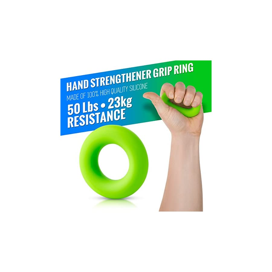 HerculesGrip Hand Grip Strengthener Forearm Grip Workout Kit 4 Pack Adjustable Hand Gripper Resistance Range of 22 88lbs, Finger Exerciser, Finger Stretcher & Exercise Ring + HD Video Manual