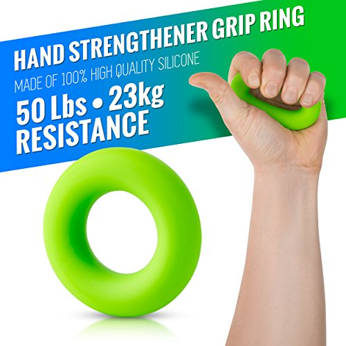 Hand Grip Strengthener Forearm Grip Workout Kit 4 Pack Adjustable Hand Gripper Resistance Range of 22 88lbs, Finger Exerciser, Finger Stretcher & Exercise Ring + HD Video Manual 3 Years Warranty