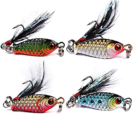 Spoon Fishing Lures Fishing Baits Sequins Lures Crankbait Hard Bait 4pcs