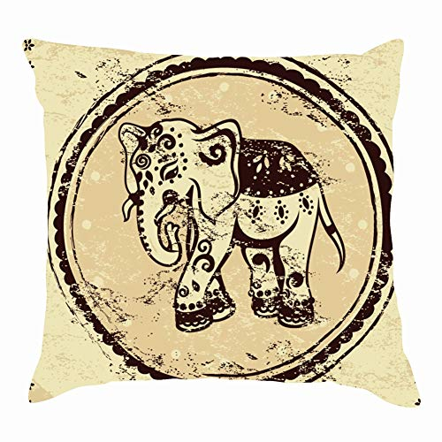 Cheshire cat Head Fairy Tale Animals Wildlife Alice Throw Pillows Covers Accent Home Sofa Cushion Cover Pillowcase Gift Decorative 18x18 inch