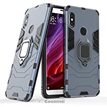 Cocomii Black Panther Armor Xiaomi Redmi Note 5/Note 5 Pro Case NEW [Heavy Duty] Premium Tactical Metal Ring Grip Kickstand Shockproof Hard Bumper Shell [Works With Magnetic Car Mount] Full Body Dual Layer Rugged Cover for Xiaomi Redmi Note 5 (B.Black)