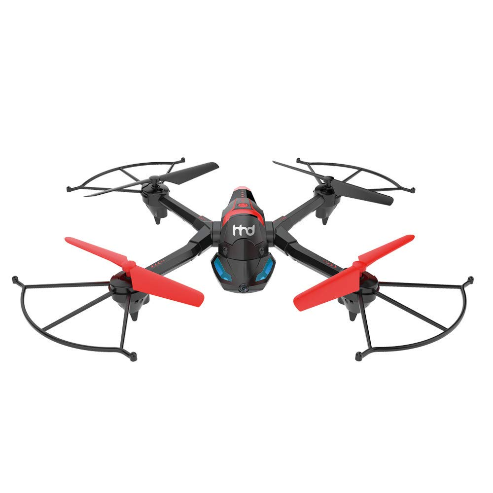 FPV Drone with Camera WiFi, RC Quadcopter 2.4G 6 Axis-Remote Control with Altitude Hold, Headless, Route Setting, One-Key Take-Off/Landing land-air-jump 3Mode Assemble Deformation (2.4G, Black) by S.H.EEE (Image #9)