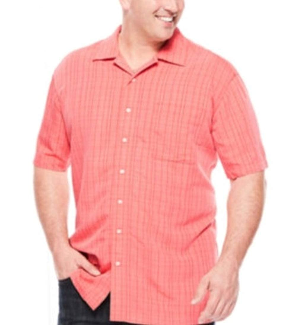 The Foundry Mens Classic Fit Short Sleeve Shirt Coral
