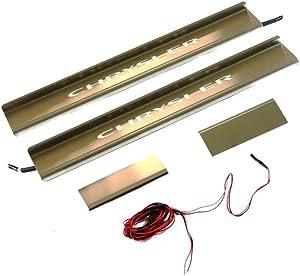 Mopar 82212284 Stainless Steel Illuminated Door Sill Guard, 4 Pack