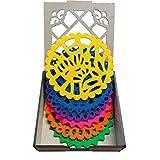 Portavasos con diseño de Papel Picado