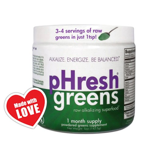 pHresh greens Organic Raw Alkalizing Superfood Greens Powder – 1 Month Supply Gluten-Free Natural Enzymes Raw Nutrients Approved for Intermittent Fasting and Keto Diets 5 ounces