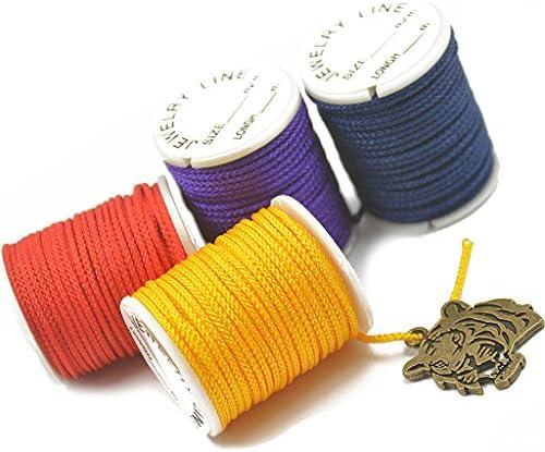 9 Meters Light teal waxed cotton cord 1mm to make shamballa or macram\u00e9 bracelets
