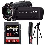 Panasonic HC-V770 HD Camcorder w/ 64 GB SD Card & 59-Inch Tripod