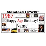 1987 PERSONALIZED BANNER by Partypro