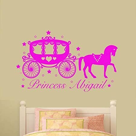 Wall Art Desire® Personalised Fairytale Horse & Carriage Princess ...