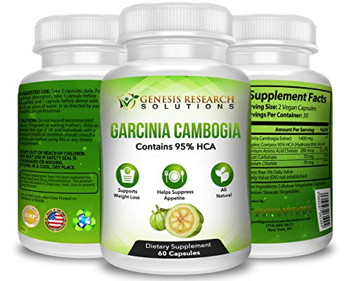 100% Pure 95% HCA Genuine Garcinia Cambogia Plus, Healthy Appetite Suppressant for Natural Weight Loss & Detox Diet. Plus Energy & Focus Booster - 100% Natural Supplement Extract. 3 Pack by Genesis Research Solutions (Image #3)