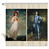 pinkie and blue boy - CafePress - Blue Boy And Pinkie Shower Curtain - Decorative Fabric Shower Curtain (69