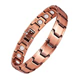 Jeracol Mens Copper Bracelet Strong Magnetic Therapy for Arthritis Carpal Tunnel Pain Relief with Free Link Removal Tool