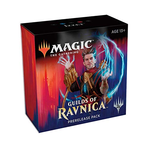 Magic The Gathering: MTG: Guilds of Ravnica Prerelease Pack IZZET (Pre-Pelease Promo + 6 Boosters + d20 Spindown Counter) Kit