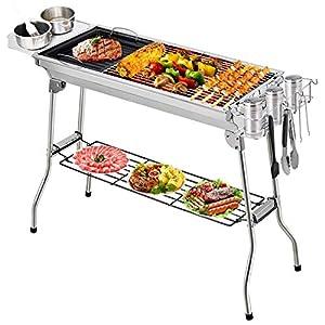 Fixget Barbecue Grill, Grill Barbecue Carbone Griglia Barbecue per 5-10 Persone, Utensile BBQ Grill Barbecue Carbone… 1 spesavip