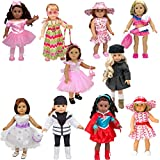 Dress Along Dolly 10 Unique Outfits Variety Pack for American Girl and Other