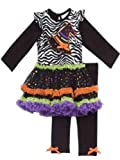 Rare Editions - Girls Zebra and Witch Hat Tutu Legging Set 6