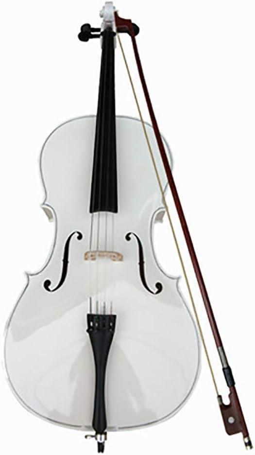 YG.QING White Plywood Cello Antique Matt Series Cello Beginner Practice Preferred Cello Craftsmanship Exquisite Workmanship