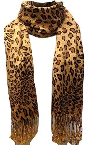 Premium Fashion Animal Print Leopard Shawl Scarf Wrap ()