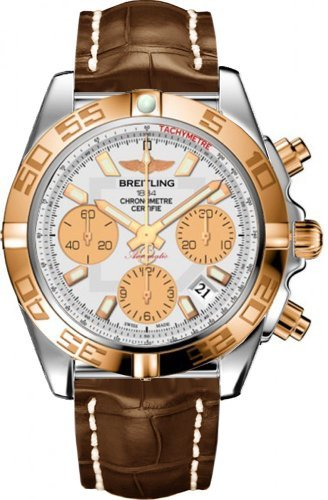 Breitling Men's CB014012-G713BS Chronomat 41 Analog Display Swiss Automatic Brown Watch