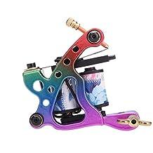 Docooler New Pro Tattoo Machine Gun Shader Liner 10 Wrap Coils Free Spring Multicolour