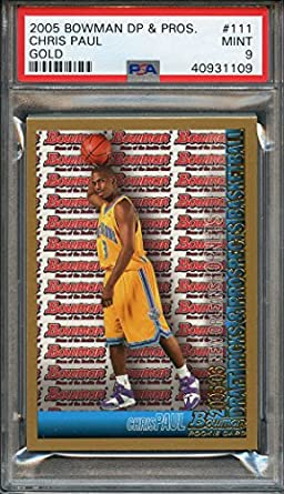 8c5e63e36a7 2005-06 bowman dp   prospects gold  111 CHRIS PAUL houston rockets rookie  PSA