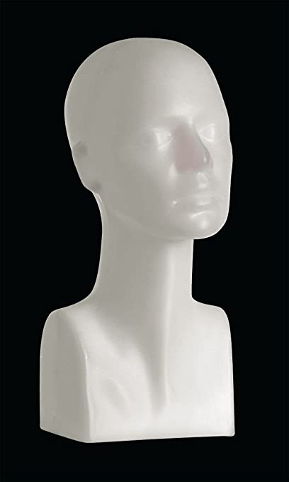 Female Mannequin Egg Head Bust Wig Hat Jewelry Display #MD-FEGGW