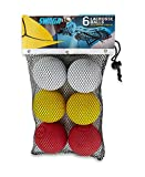 SWAGA - MULTI-COLORED 100% RUBBER - Lacrosse Balls NOCSAE - NCAA- NFHS OFFICIAL CERTIFIED - 6 LACROSSE BALLS (Red Yellow & White, ) WITH CARRY BAG