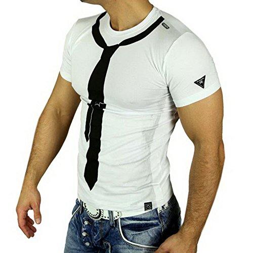 poloshirt herren polohemd polo shirt hemd shirt t-shirt männer A5042RN, Größe:XL, Farbe:Weiß / Schwarz