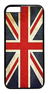 Great Britain GB British Flag ENGLAND Rubber Silicon Black Case Cover for iPhone 5C by Cases4U TM