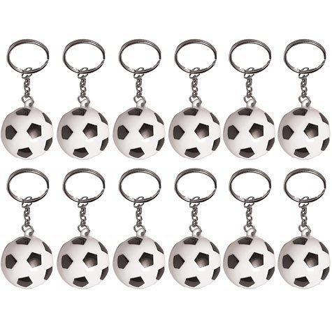 Soccer Ball Keychains 12ct -