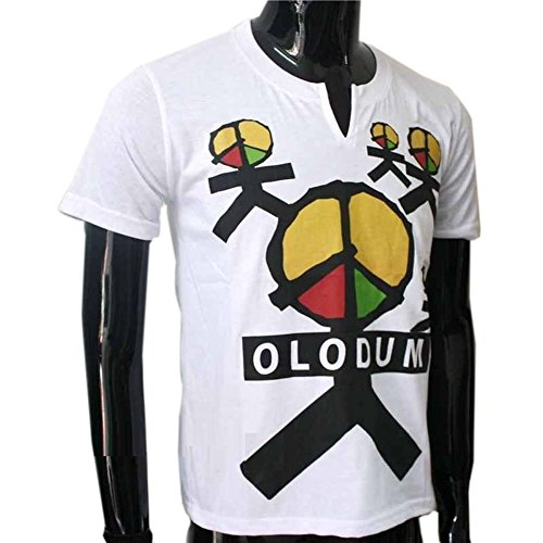 CIGUO Mens Boys Perfect Cosplay OLODUM Beat It Piano Peace Anti War T- Shirts (boy 40-50kg, White-1) -