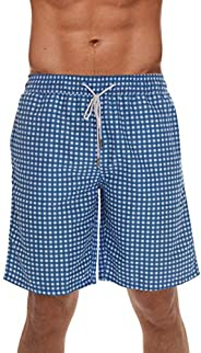 Whiskey and Oak Men's Swimming Trunks Shorts with Pockets, Quick Dry Bathing Suit - Longer Length