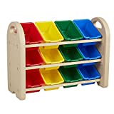 Save on ECR4Kids 3-Tier Toy Storage Organizer for Kids, Sand with 12 Assorted Color Bins and more