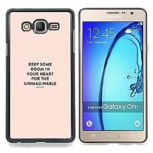 Stuss Case / Funda Carcasa protectora - Corazón Cita inspiradora María Oliver Peach - Samsung Galaxy On7 O7