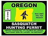 Sasquatch Hunting Permit - OREGON (Bumper Sticker)