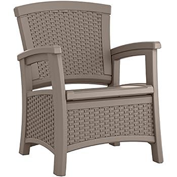Suncast ELEMENTS Club Chair with Storage, Dark Taupe