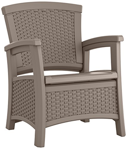 UPC 044365023380, Suncast ELEMENTS Club Chair with Storage, Dark Taupe