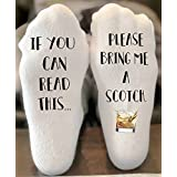 If You Can Read This Get Me a Scotch Novelty Funky Crew Socks Men Women Christmas Gifts Slipper Socks