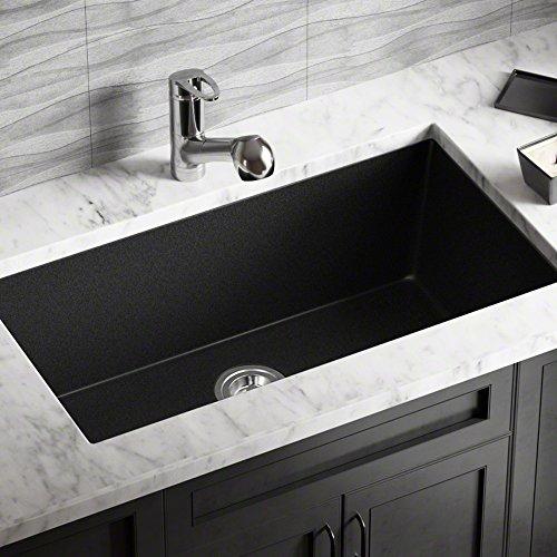 Mr Direct  Trugranite Single Bowl Kitchen Sink Black