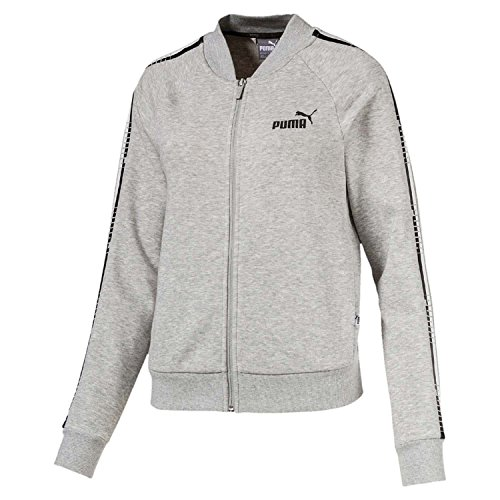 Donna Tape Chiaro Grigio Jacket Ardesia Fz Puma Tr Sweatshirt vXZOOnT