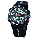 Sport Analog Digital Dual Time Water Resistant Wrist Watches Backlight Alarm ...