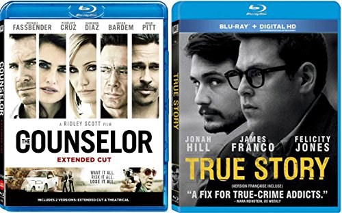 True Story & The Counselor [Blu Ray] 2 Pack Crime Mystery Thriller Movie Set