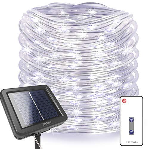 Solar 100 Led White Rope Lights in US - 5