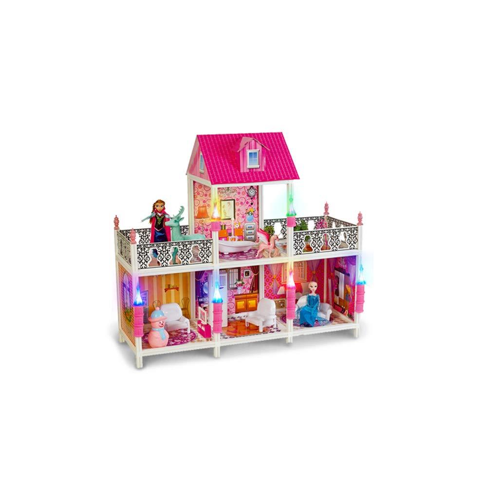 D(11241100cm) Unicco inc. Barbie Set Gift Box Villa Castle Princess Dream Building Girl Toy House Gift Decoration Pendant Crafts (color   A(113.5  42  136.5cm))