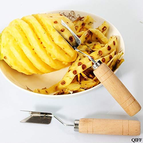 New Style & Wholesale V Shaped Stainless Steel Pineapple Eye Peeler Seed Remover Fruit Knife Tools 43584